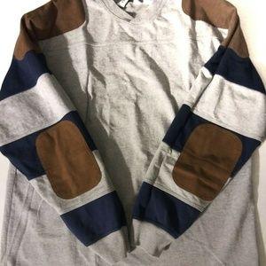 Orvis Mens 1/4 Zip Gray Pullover Sweatshirt L